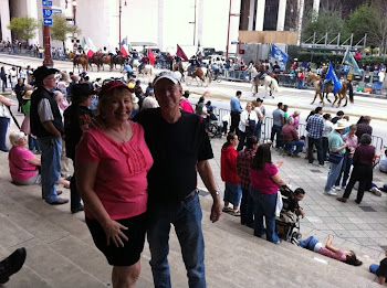 BONNIE AND JOE AT THE HOUSTON RODEO PARADE