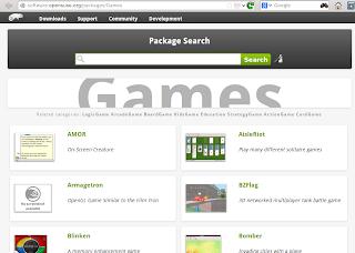memilih paket di software.opensuse.org
