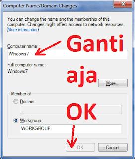 Cara Merubah Nama Default Komputer / Computer Name