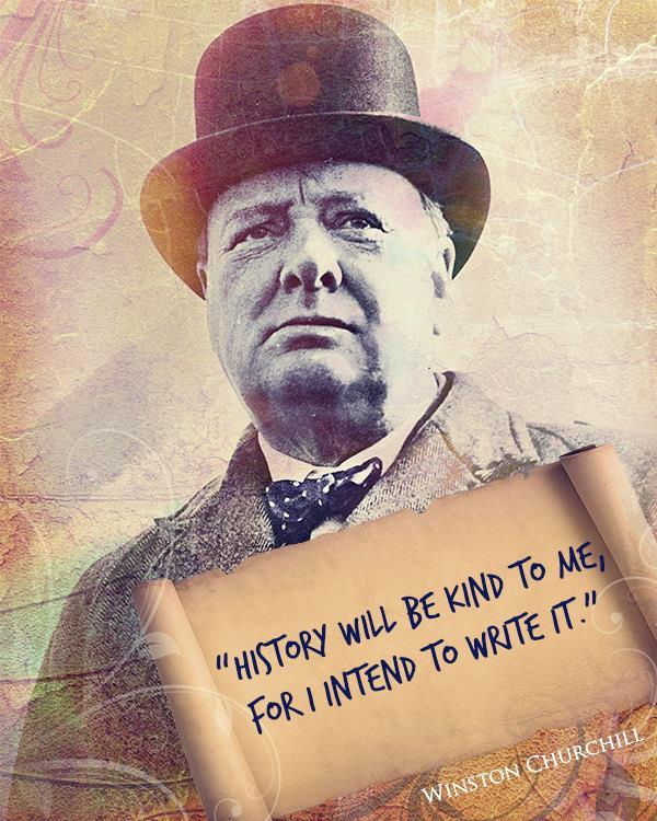 Winston Churchill Quote About Writing