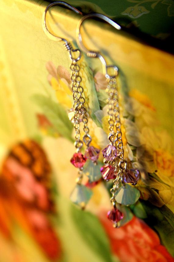 Swarovski Crystal Dewdrop Dangle Earrings from Lilla Stjarna