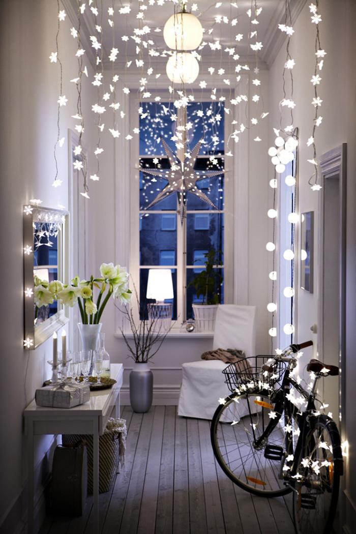 natal boho decoração com luzinha