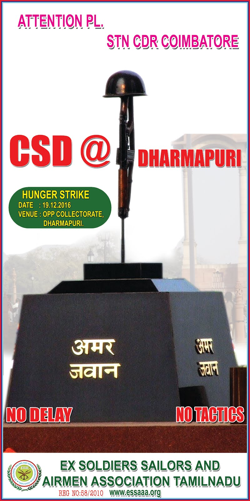 HUNGeR STRIKE FOR CSD @ DPI