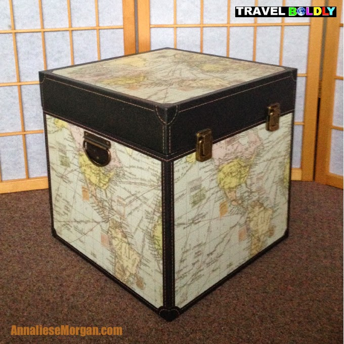 The box that was literally inspiration for Annalies Morgan's travels. photo by Annaliese Morgan for Travel Boldly