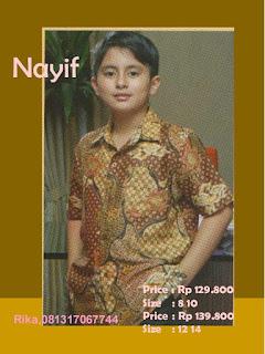 baju batik anak laki