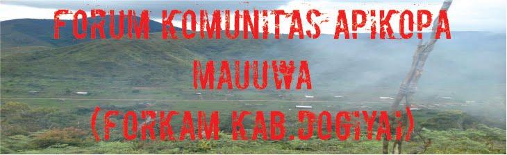 FORUM KOMUNITAS APIKOPA MAUWA (FORKAM KAB DOGIYAI )