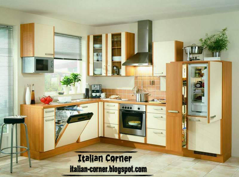 modern italian kitchen cabinets designs, colors 2013