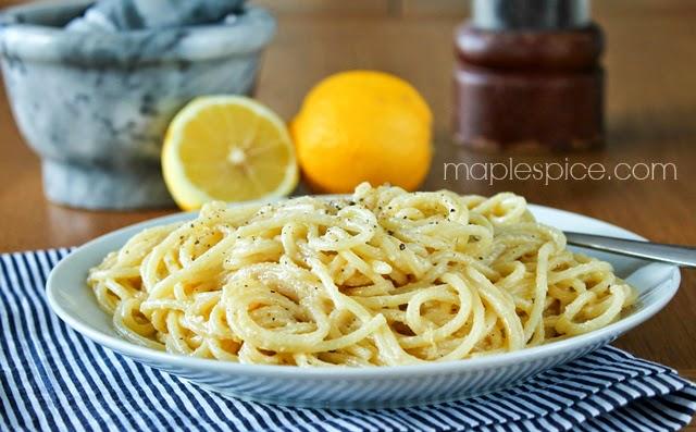 Vegan Lemon Parmesan Spaghetti