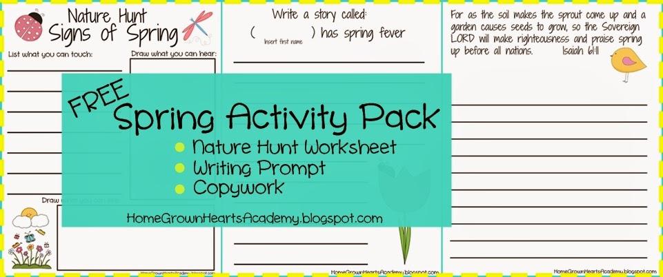 Home Grown Hearts Academy Homeschool Blog: Free Printables