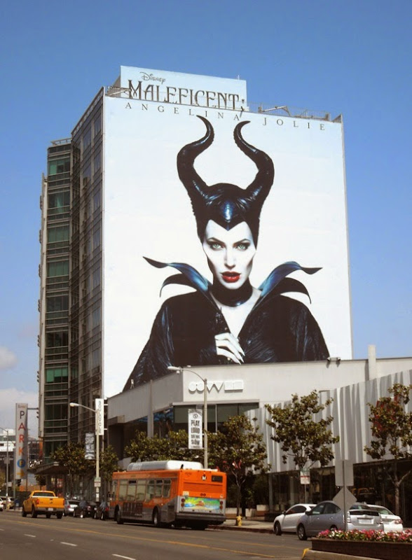 Giant Maleficent horns billboard