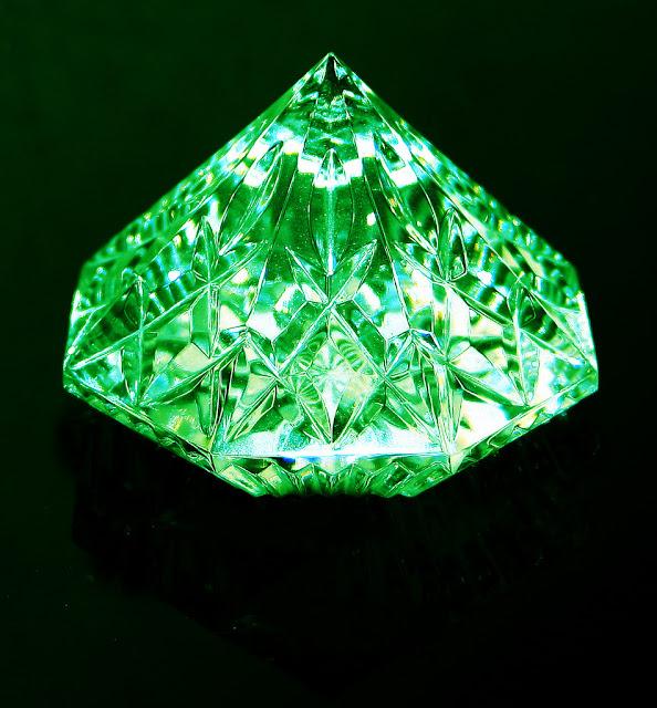 A lustrous emerald