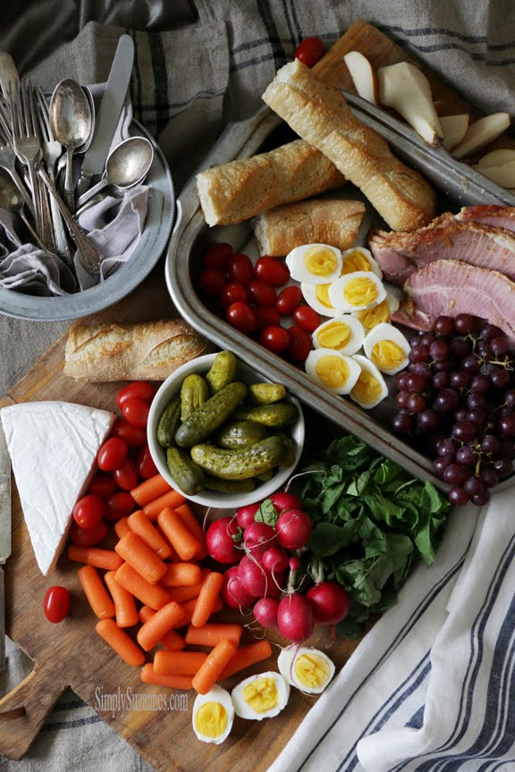 a Virginia-inspired Ploughman's board