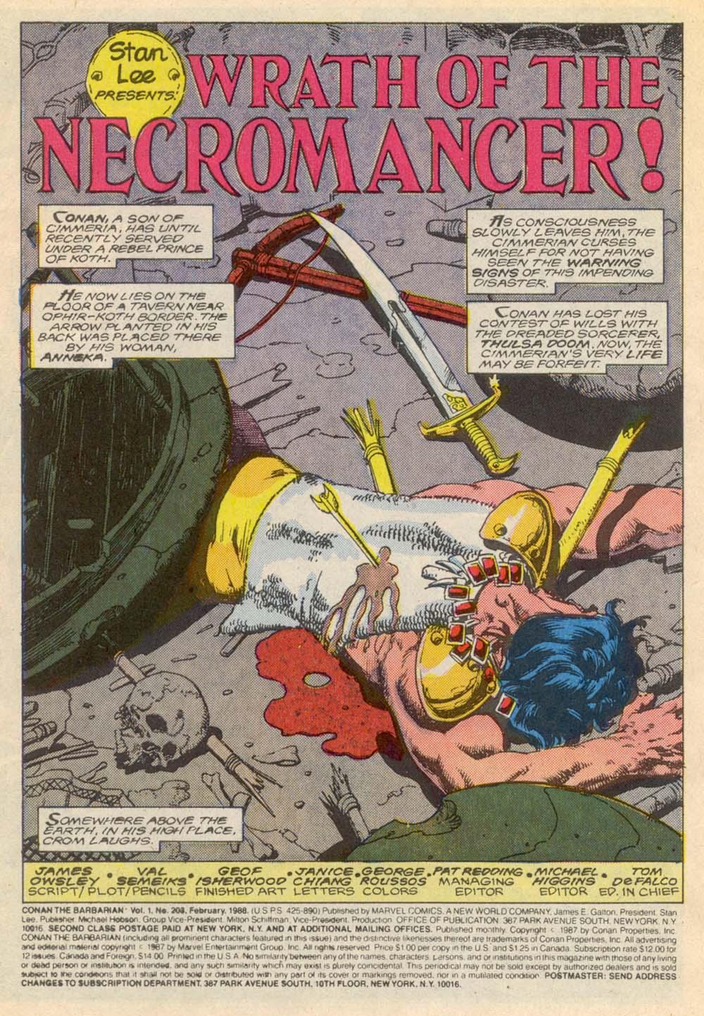 Conan the Barbarian (1970) Issue #203 #215 - English 2