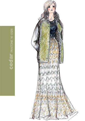 Дамска Мода Есен 2011 зелено цвят кедър