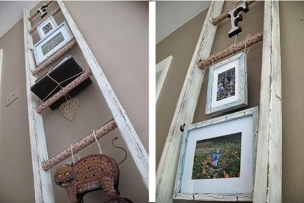 Escaleras usadas como estantes repisas y libreros for Cuadros para escaleras
