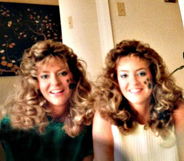 My sister and me - Baylor in the 80s