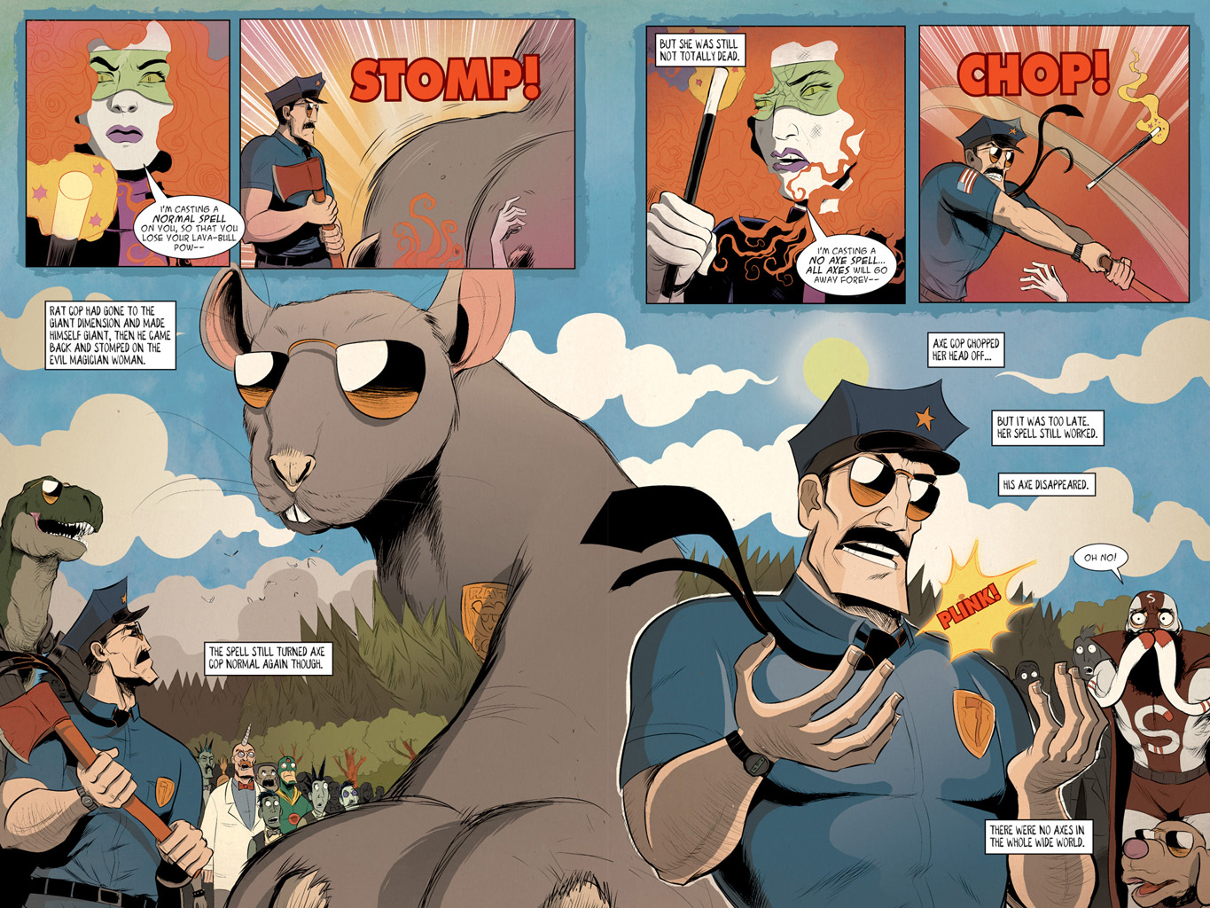 Read online Axe Cop: Bad Guy Earth comic -  Issue #3 - 23