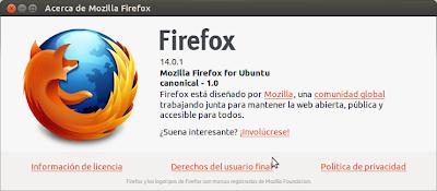 Instalar Firefox 14 en Ubuntu, actualizar Firefox 14 en Ubuntu