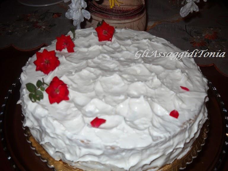 torta white rose cake