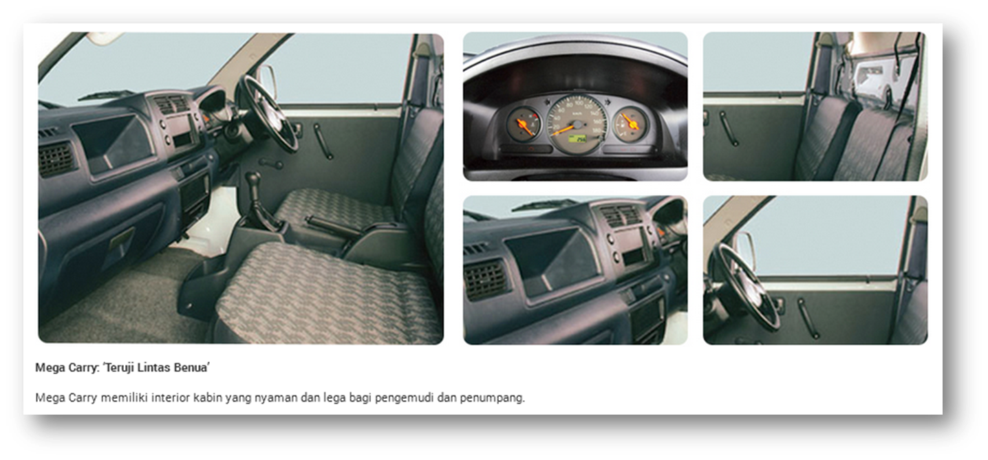 SUZUKI MEGA CARRY INTERIOR FEATURE