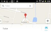 Menu wyszukiwania lokalizacji w nawigacji
