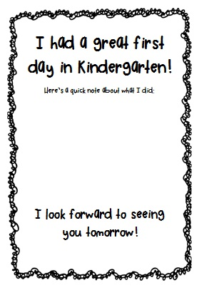 photo of: First Day of Kindergarten FREEBIE via PreK+K Sharing from ...