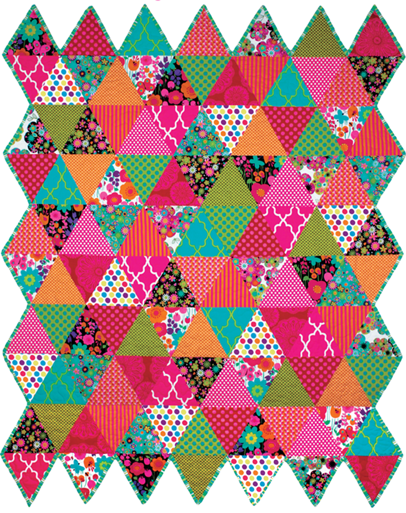 Quilt Patterns With Two Fabrics : Quilt Inspiration: Free pattern day: Thousand Pyramids quilts!
