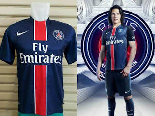 jual online dan gambar detail baju bola liga perancis musim depan Kostum Paris Saint Germain PSG kandang terbaru GO musim 2015-2016 di enkosa sport toko online pakaian bola terpercaya