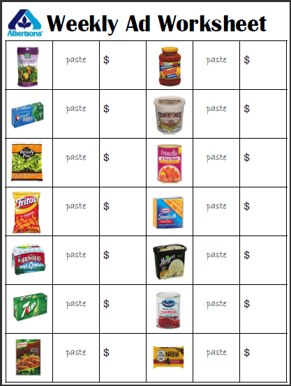 At the Grocery Store | Math, Word problems and Worksheets