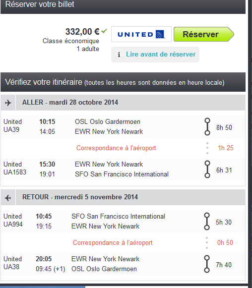 Error Fare United San Francisco