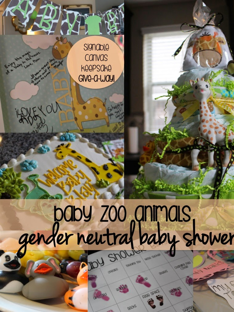 Gender Neutral Baby Shower- Zoo Animals