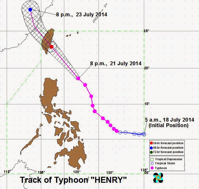 Typhoon Henry moves towards extreme North Luzon