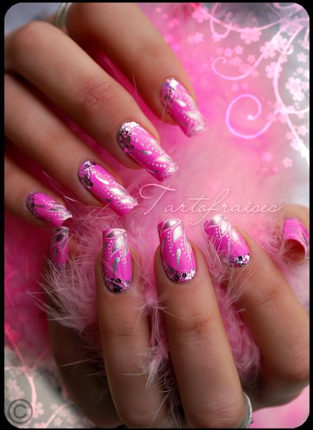 beautiful nail art barbie doll