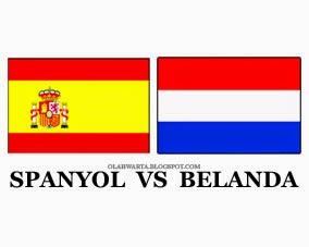 Rekor Head to Head Spanyol vs Belanda