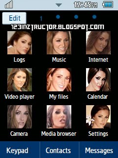 Hot and Sexy Lucy Pinder Samsung Corby 2 Theme Menu