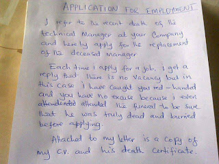 Just For Laughs ; Application For Employment.