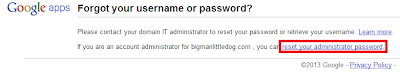 Google Apps Domain Registration - Reset Password 2