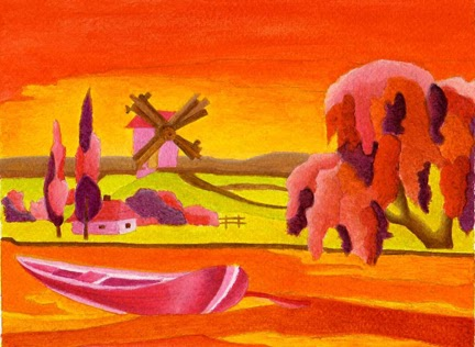 Akire 39 s portfolio dipingendo con i contrasti painting for Disegni a colori caldi