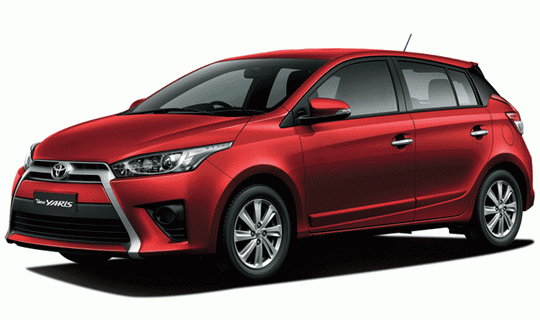 Toyota All New Yaris Red Mica Metallic