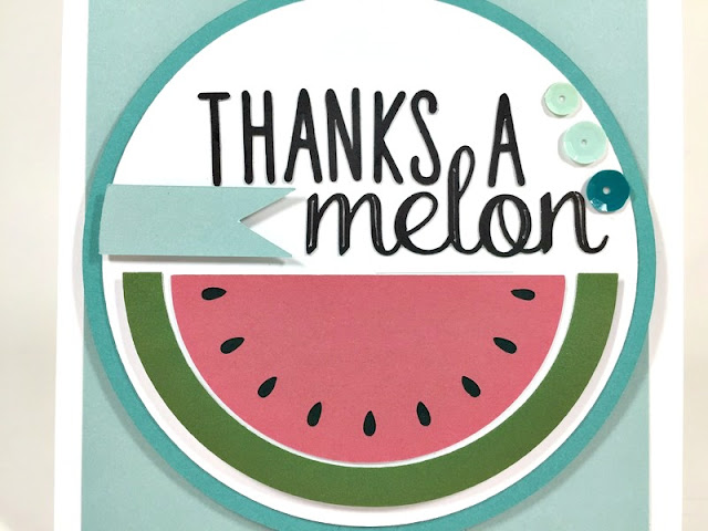 Cricut Watermelon card