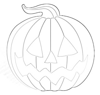 Halloween Pumpkin Cartoon Sketch