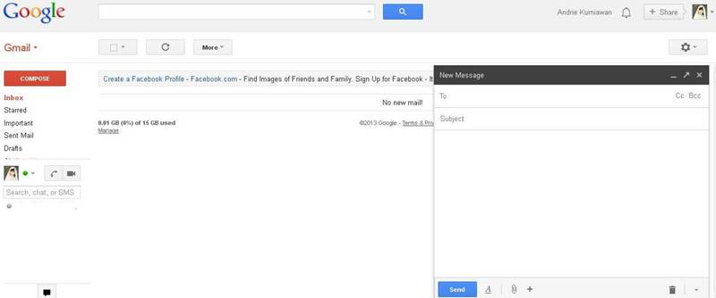 """Pada bagian """"To""""( Kepada atau untuk ) - Isilah dengan alamat email ..."""