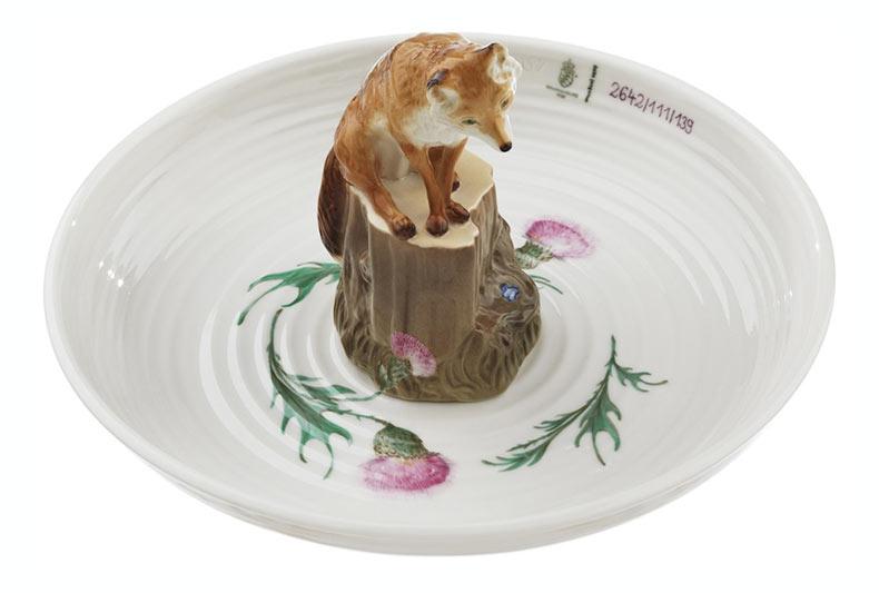 Cuencos de cerámica pintada a mano cuentan con lindos animales realistas