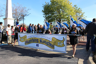 Montgomery Catholic's Marching Knights March in Christmas Parade 3