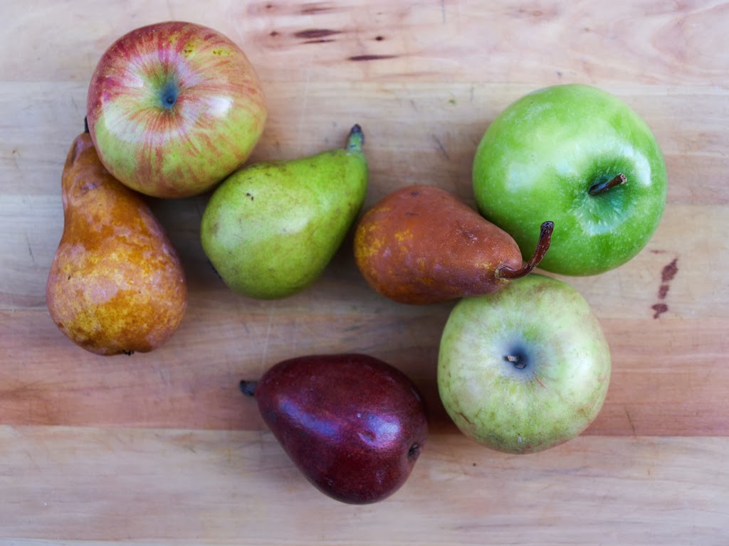 Pick your favorite apples and pears. I love Fuji apples for their ...