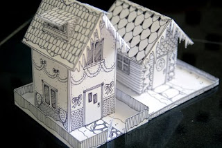 Mel Stampz: Wee Houses (124 links: templates, tutorials, etc.)