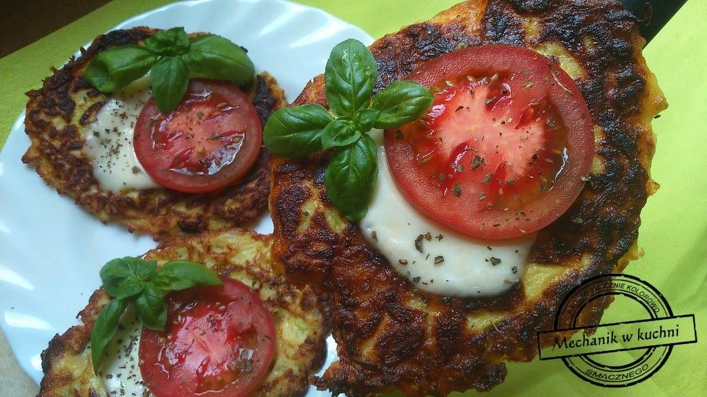 Cukiniowe placki z mozzarellą i pomidorem mechanik w kuchni