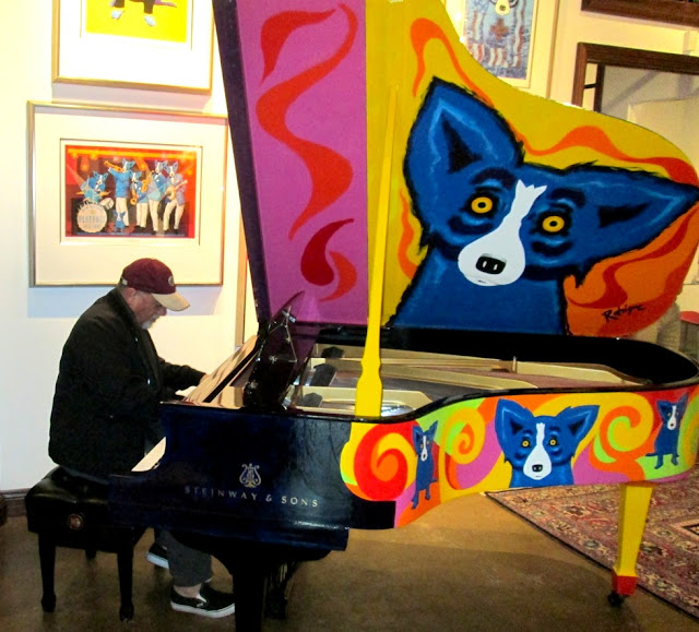 Billy Joel stops into the George Rodrigue Foundation of the Arts (GRFA) to play the Rodrigue Steinway for the 2013 New Orleans Jazz and Heritage Festival Fundraiser