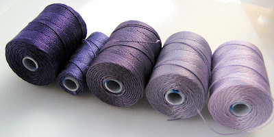 Shaed of purple C-lon bead cord