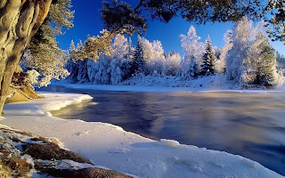 Icy River HD Wallpaper